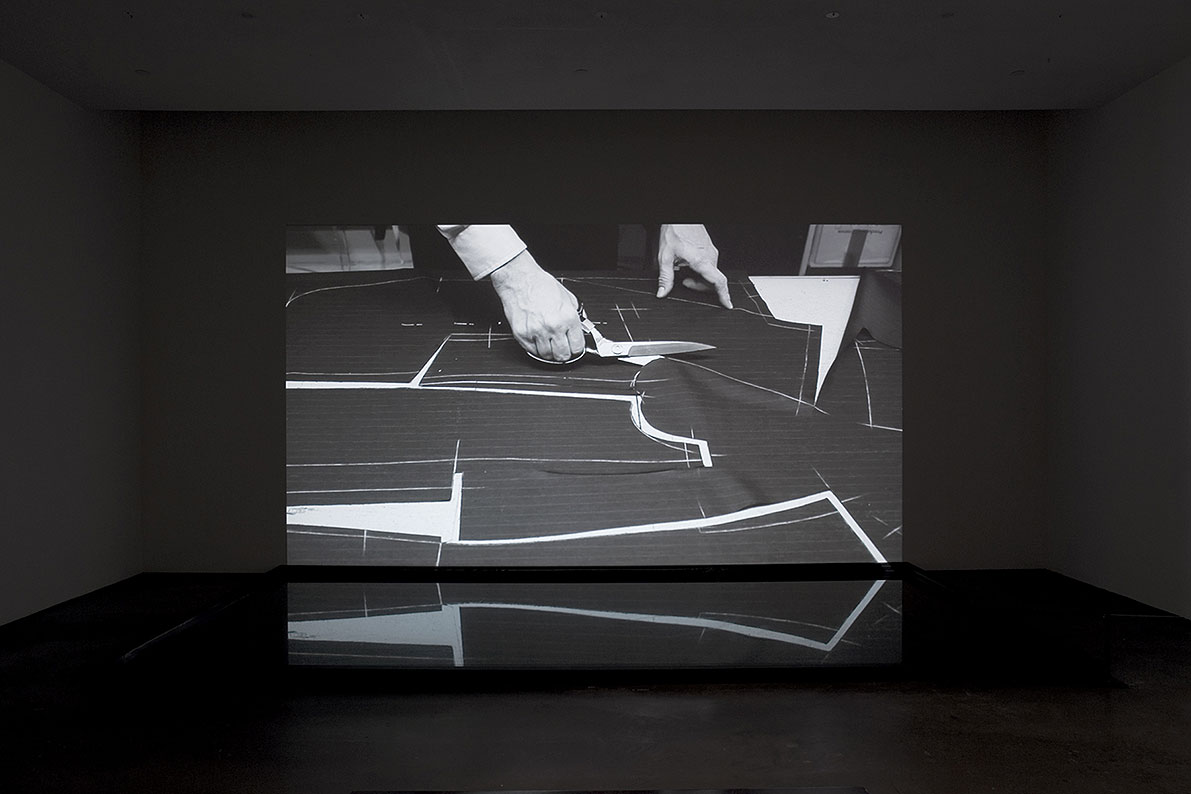 Man Before A Mirror, 2011, detail of the video installation