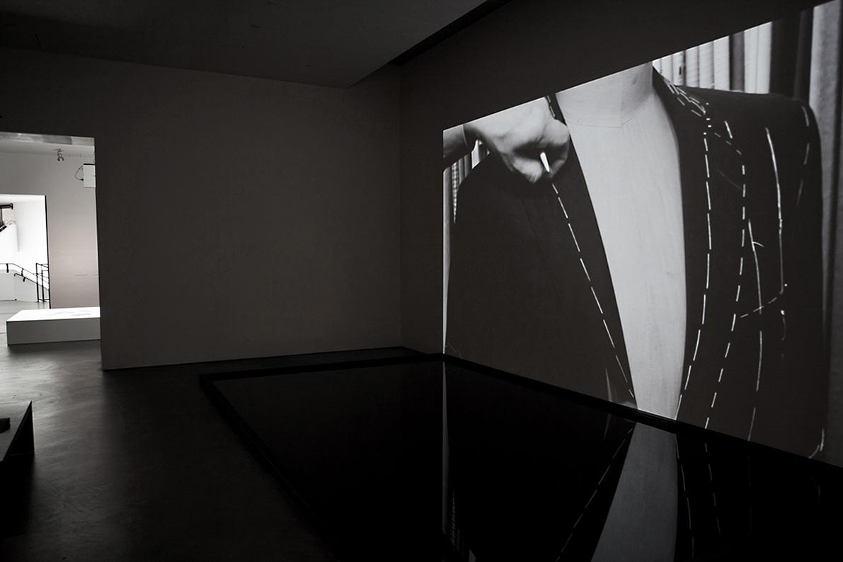 Man Before a Mirror, 2011, duration: 20 min. 30 sec. (loop), production format: Digital video, presentation format: HDV, aspect ratio: 16:9, sound: mute, colour: B&W