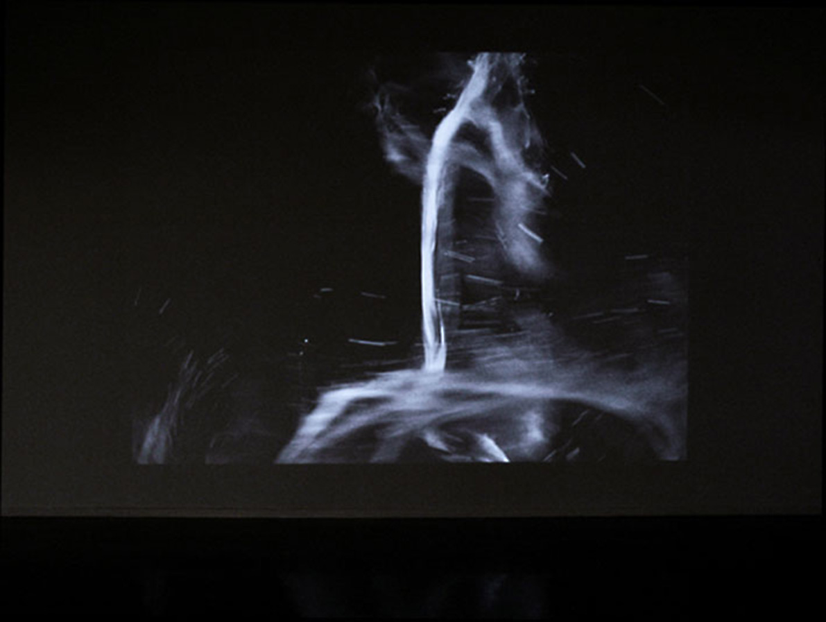 Grotesque & Arabesque II (cream), installation view with the DVD projection