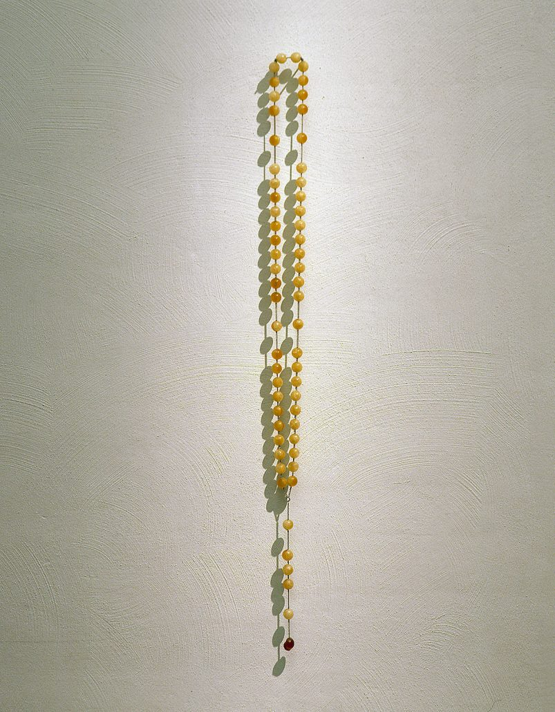 Rosary, 1999, sugar, wine, chain, 120 cm