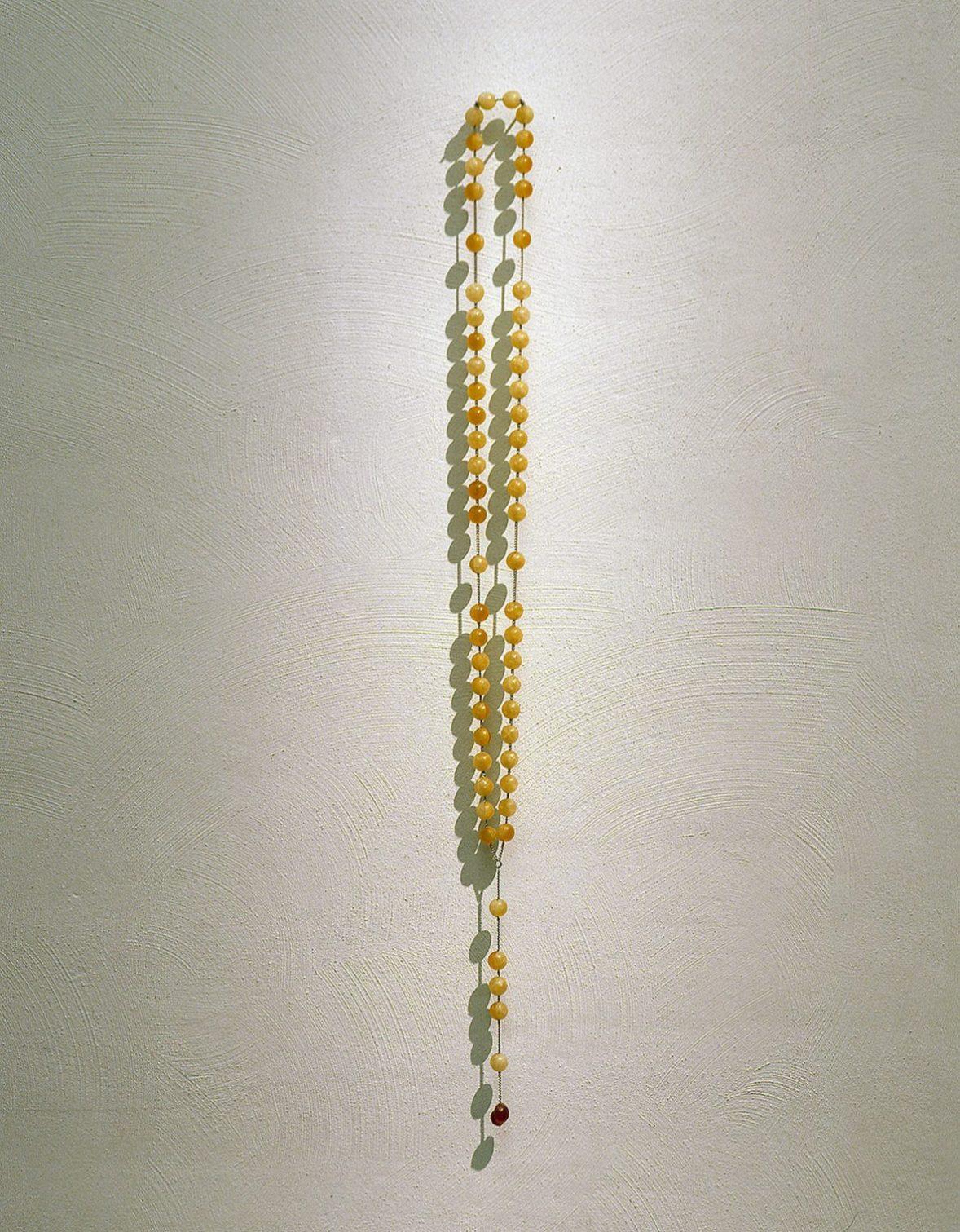 Rosary, 1999, sugar, wine, chain, 120 cm